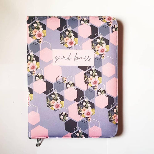 Girl Boss Zip File Folder