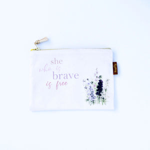 She Who is Brave Is Free Zipper
