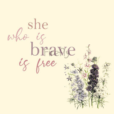 She Who is Brave Is Free Magnet