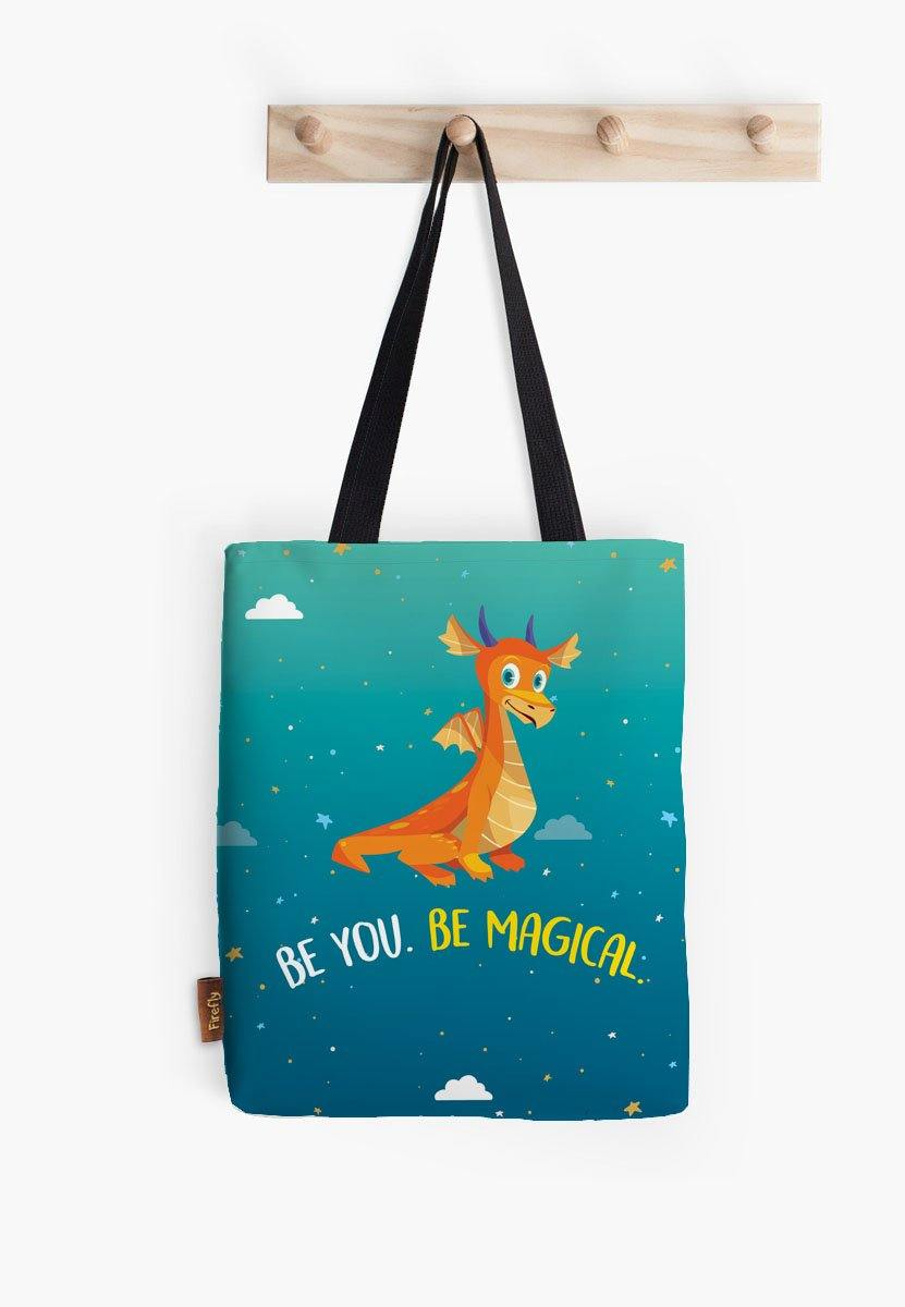 Be You Be Magical Dragon Tote - Firefly
