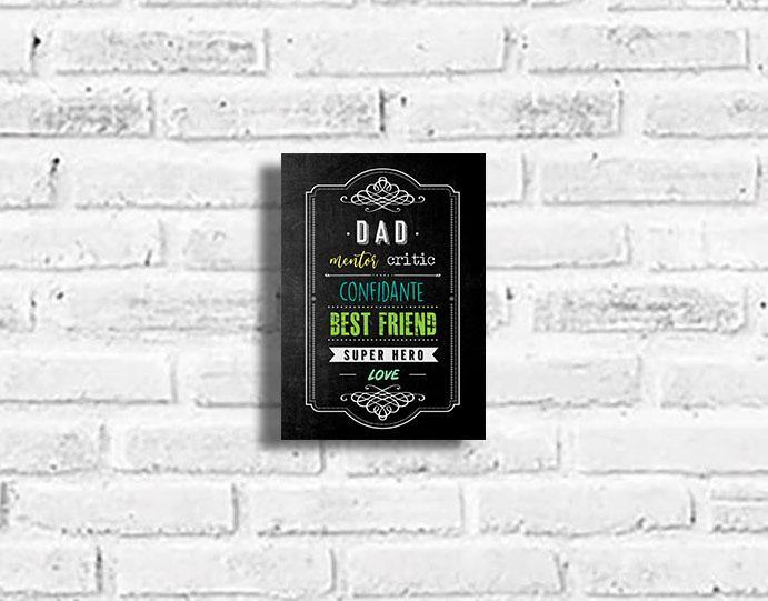 Dad Faux Chalkboard Plaque - Firefly