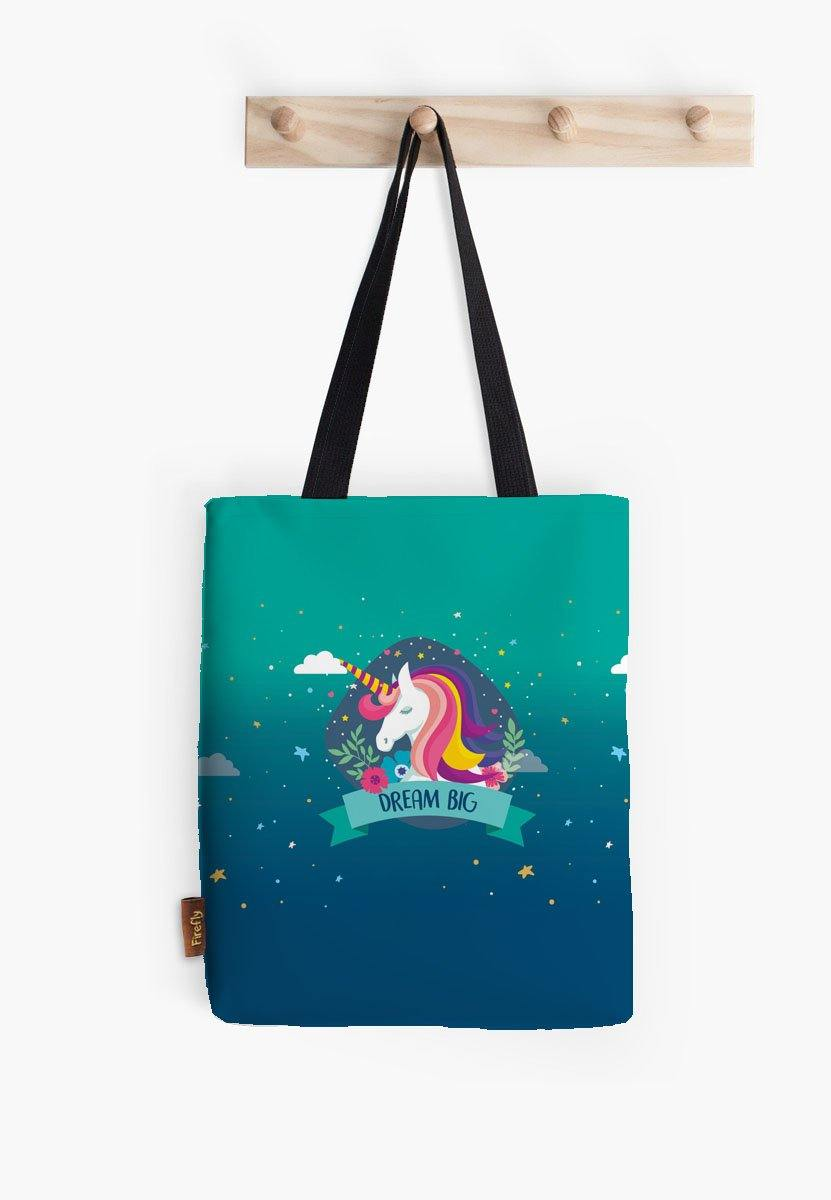 Dream Big Unicorn - Blue Tote