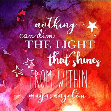 Light that Shines - Maya Angelou Magnet