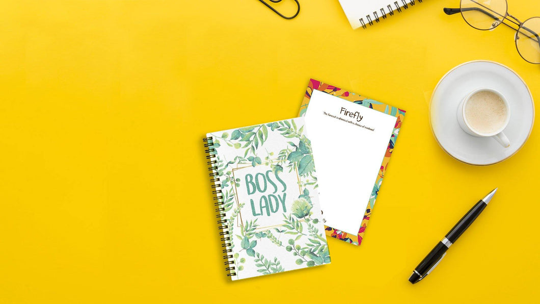 Boss Lady Mini Notebook - Firefly