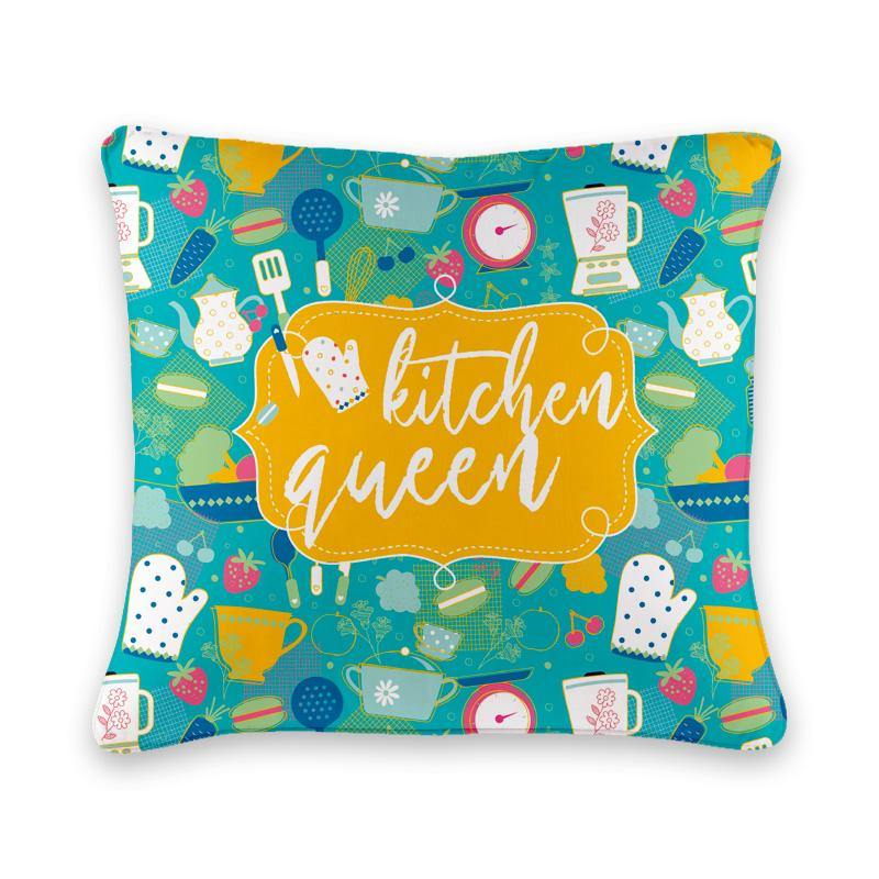 Kitchen Queen Cushion Cover