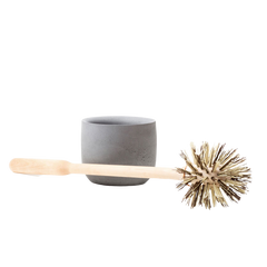 Toilet Brush with Concrete Base