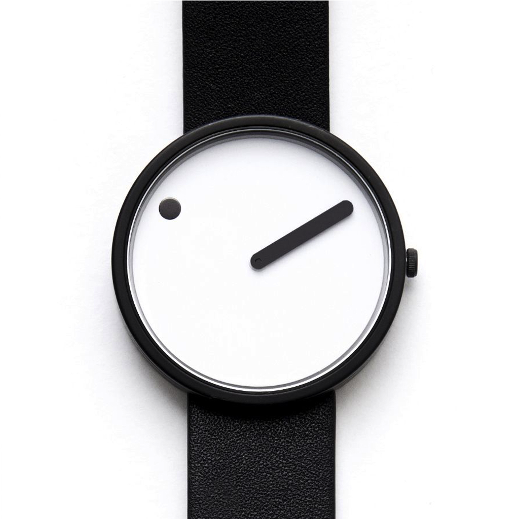 Picto Leather Watch