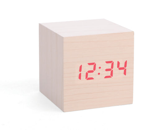 Wood Cube Alarm Clock