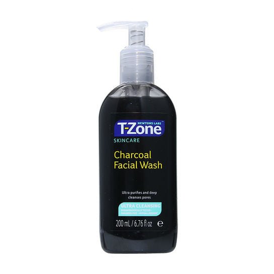 T Zone Charcoal Face Wash 200ml - Super Perfumes