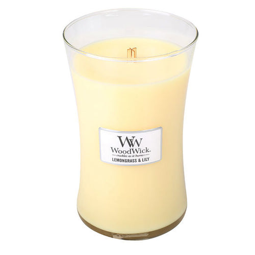 WoodWick Lemongrass and Lily Large Candle - Super Perfumes