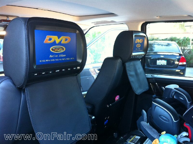 Headrest DVD Player Install 2008 Range Rover HSE