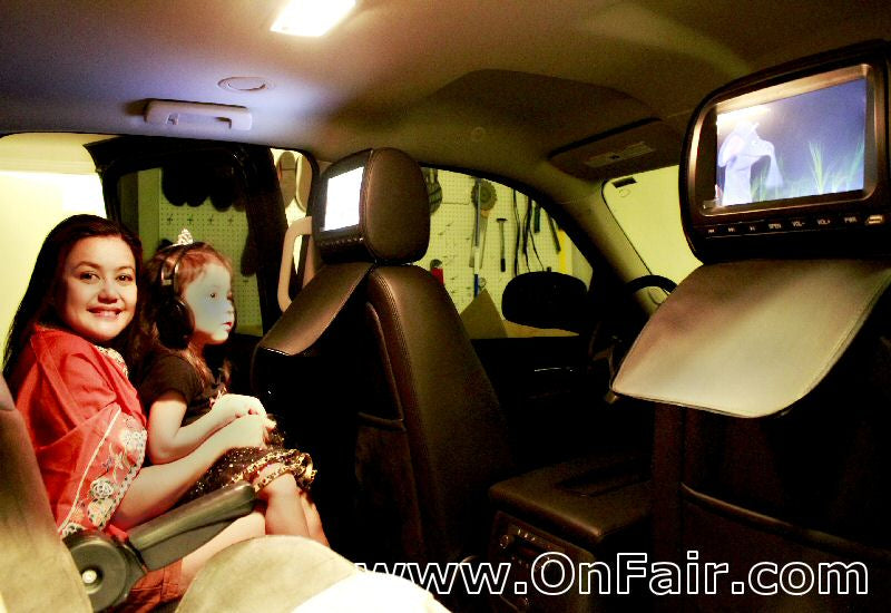 2011 Chevy Suburban LT Headrest DVD Player Install Photo