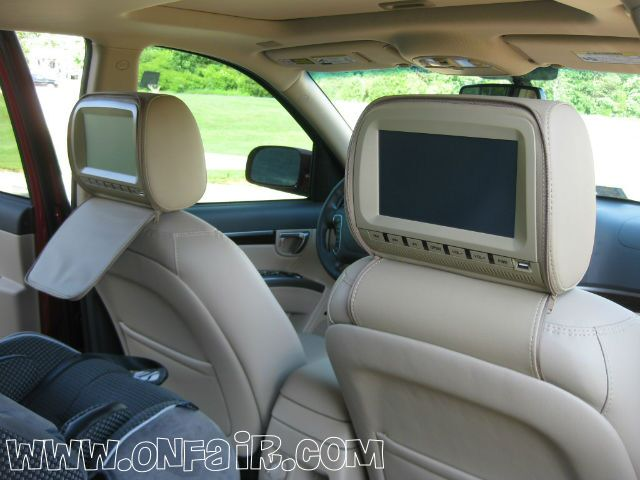 2012 Hyundai Santa Fe  Headrest DVD Player Install