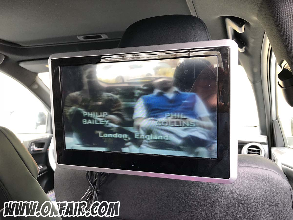 2018 toyota rav 4 headrest dvd player monitors review