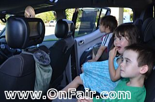 OnFair Customer Photo Baton Headrest DVD Player Install