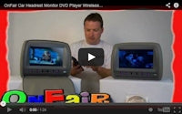hear headrest dvd player audio over fm speakers