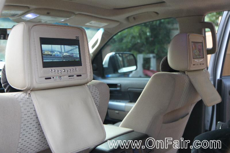 2008 Toyota Tundra Headrest DVD Player Install