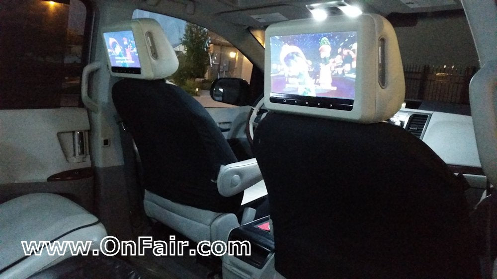 2011 Toyota Sienna Headrest DVD Player Review Install