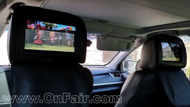 Autotain Magic Headrest DVD Player Review in Toyota Camry