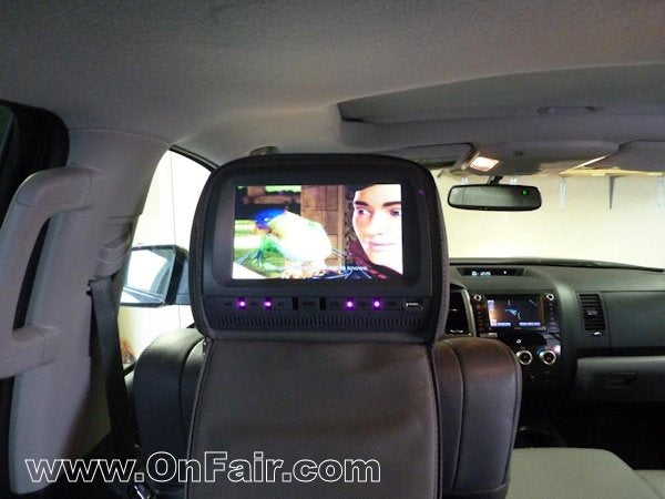 Autotain Headrest DVD Player Review Install Toyota Tundra
