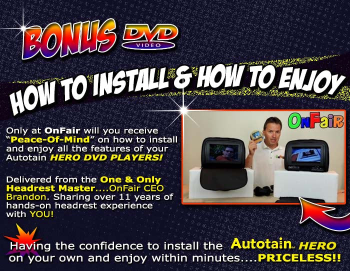 how to install instructions for HERO Headrest DVD Players