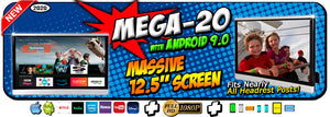 "Mega-20 NEW 12.5"" Headrest Monitors with Android 9.0"
