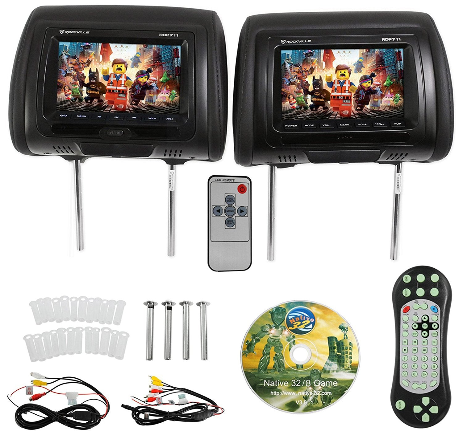 #4 Best Car Headrest DVD Player - Rockville RDP711