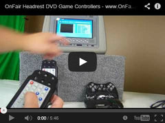 all in one remote control for headrest dvd players