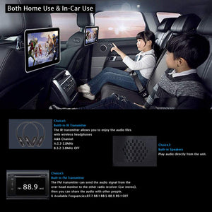 "10.1"" Headrest DVD Player with Touch Screen 1080P USB SD + FREE HEADPHONE"