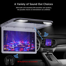 Load image into Gallery viewer, 13.3 inch Car Flip Down Monitor HD TFT LCD Screen USB SD HDMI MP5 (Grey)