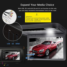 Load image into Gallery viewer, 15.6inch 1080P Car Video Roof Mount Overhead DVD Player Flip Down Monitor USB SD HDMI (Black)