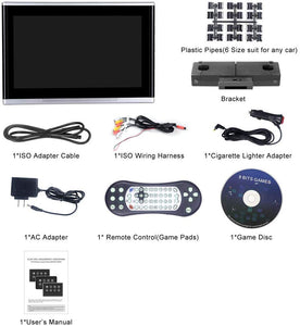 "10.1"" Headrest DVD Player Touch Screen 1080P DVD AV IR/FM Games"