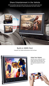 "PAIR - 10.1"" Headrest DVD Player Monitors with 1080P USB SD"