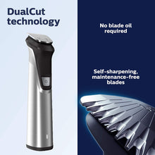 Load image into Gallery viewer, Philips Norelco Multigroom All-in-One Trimmer Series 9000, 25 pieces and premium case 10624
