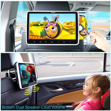 "Load image into Gallery viewer, Single 10"" Car Headrest DVD Player AV in & Out, USB SD, Last Memory"