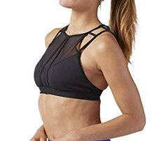 Load image into Gallery viewer, Reebok Franchise strappy BRA, Smoky Taupe, Medium 11029