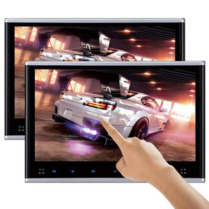 "PAIR - 10.1"" Headrest DVD Players with (Touch Screen) 1080P USB SD"