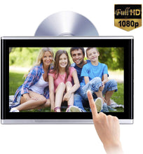 "Load image into Gallery viewer, 10.1"" Headrest DVD Player Touch Screen 1080P DVD AV IR/FM Games"