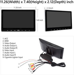 "Eonon L0318 2019 11.6"" 1080P HD Digital Monitor Car Headrest DVD Player Monitors HDMI USB SD"