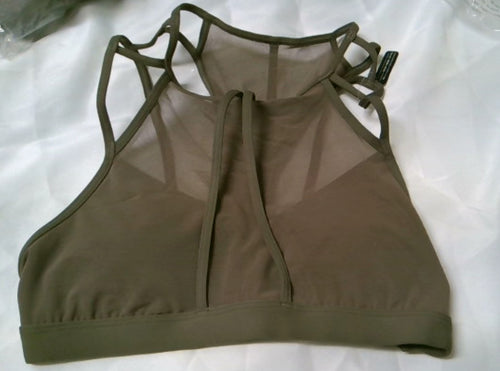 Reebok Franchise strappy BRA, Smoky Taupe, Medium 11029