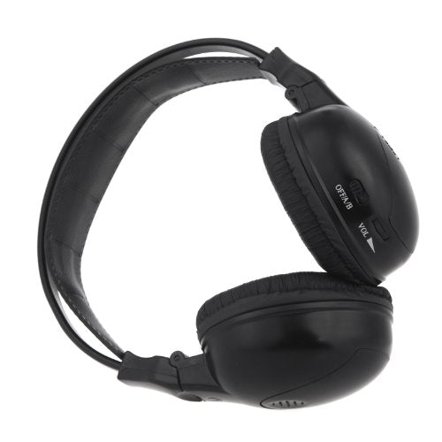 2 Channel IR Wireless Car Audio Headphone Headset for Headrest DVD Monitors IR-X