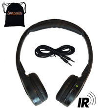 "Load image into Gallery viewer, Autotain CLOUD ""KID SIZE"" Dual Channel IR Infrared Car Wireless Headphones +FREE BAG"