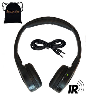 "Autotain CLOUD ""KID SIZE"" Dual Channel IR Infrared Car Wireless Headphones +FREE BAG"