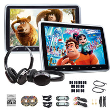 Load image into Gallery viewer, Eonon C1100A 10.1 Inch Headrest DVD Player Pair + IR Headphones
