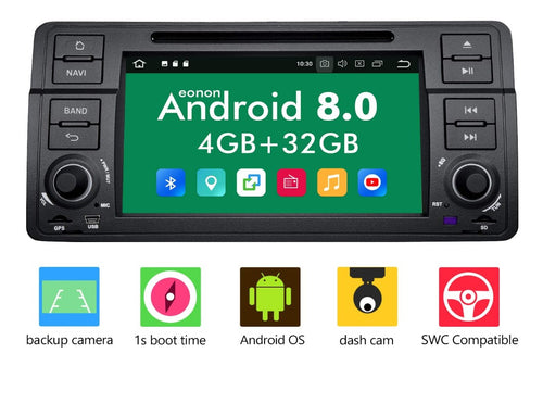 Eonon GA9150B Android 8.0 Apple Carplay Car Radio for BMW E46 3 Series 1999-2004