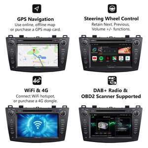 Eonon GA9163K Android 8.1 Car Radio for Mazda 3 2010-2013