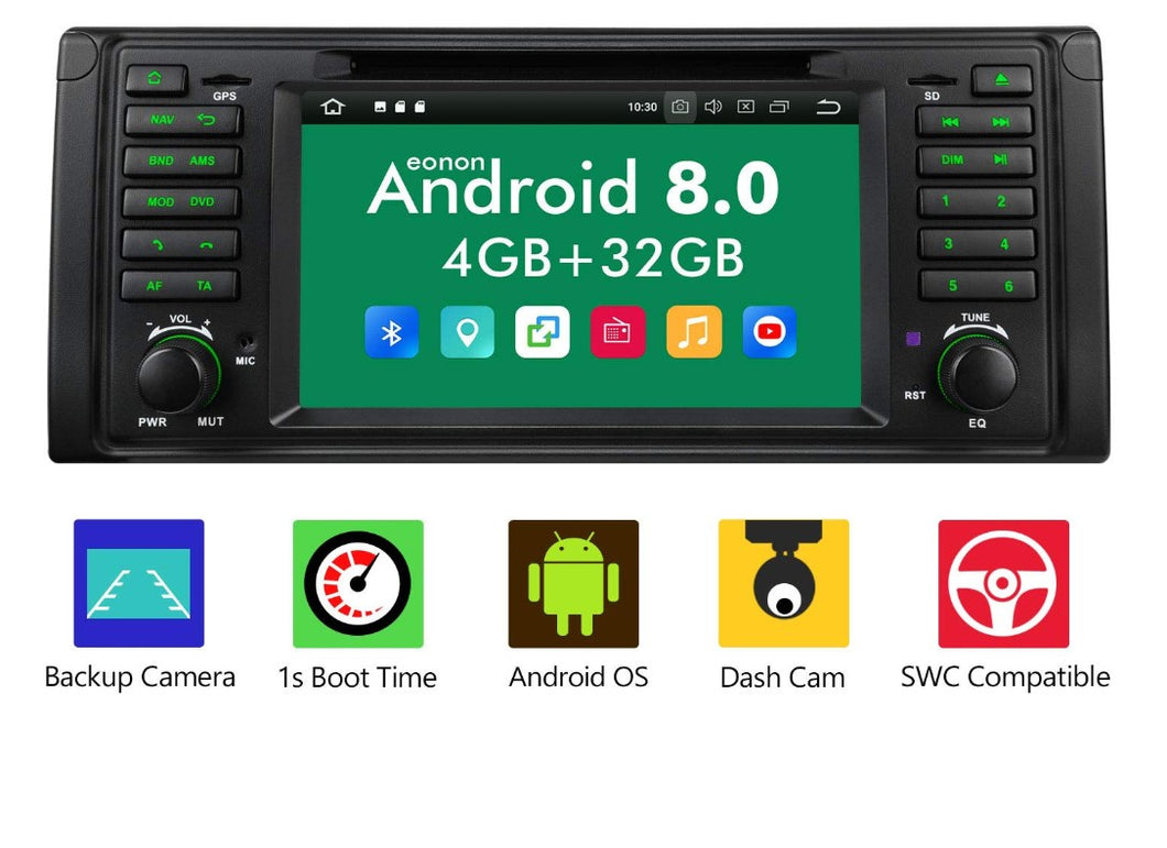 Eonon GA9201B Android 8.0 Apple Carplay Car Radio for BMW E39 1995-2002