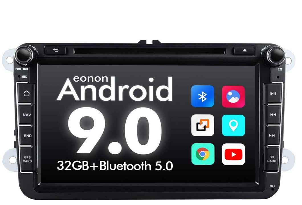 EONON GA9353 for Volkswagen latest Android 9.0 Quad-Core 8 inch android car stereo