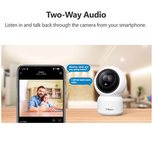 Wifi Home Security Camera 360 Degrees Motion Tracking Phone Remote Control 1080p