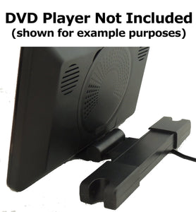 "Headrest Monitor DVD Player Bracket for SMALL SIZE Fits 4"" to 6"""